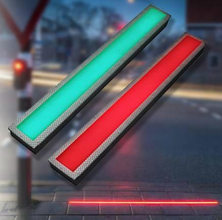 semáforo de pedestre horizontal